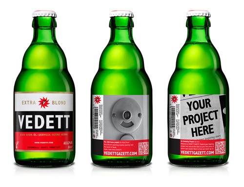 Vedett Gazett bottle series