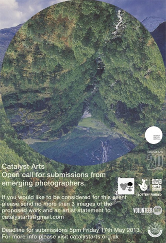 Catalyst Arts Open call for submissions from emerging photographers