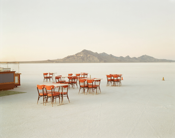 Richard Misrach, Outdoor Dining, Bonneville Salt Flats, 1992