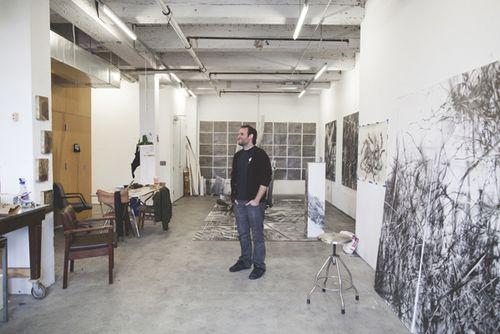 Mauro Giaconi in a live/work studio