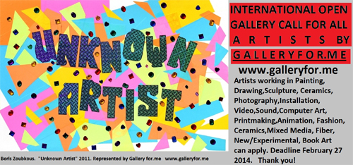 International Open Gallery Submission Call for All Artists by Galleryfor.me, NY