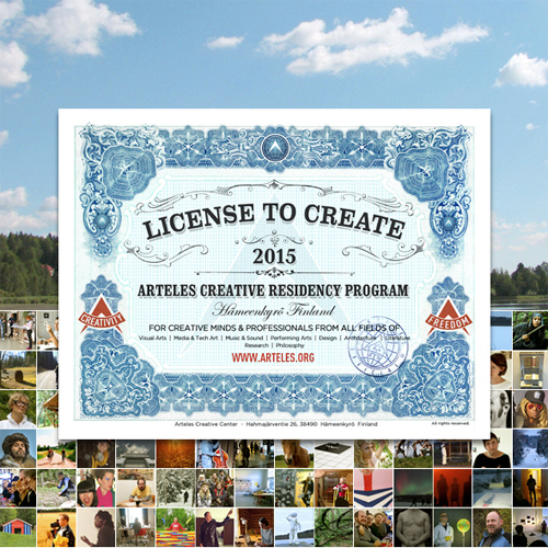 Arteles Creative Residency Program 2015 in Finland