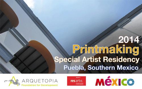 Printmaking Special Artist Residency 2014 – Puebla