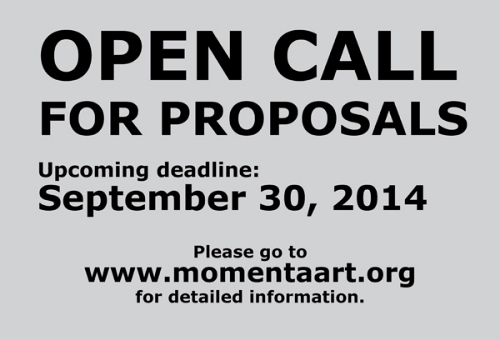 Momenta Art - Open Call 2014