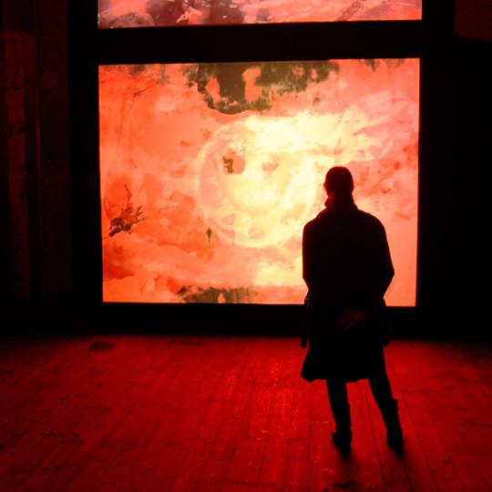 Mark Titchner 'ROSE' Dilston Grove 2014, photo Miyako Narita