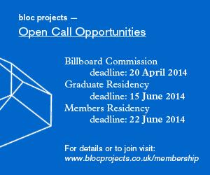 2014 Bloc Projects Graduate Programme