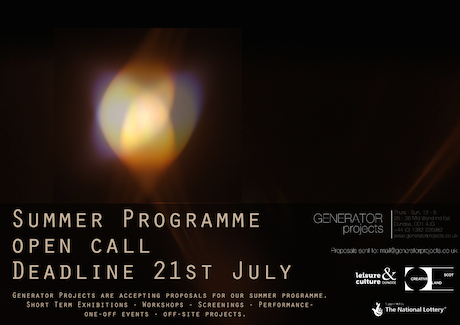 GENERATORprojects Summer Open Call 2014