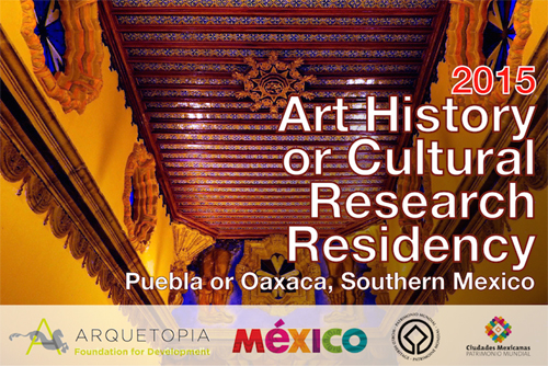 Gold Leafing and Antique Art Techniques Instructional Artist Residency 2015 - Puebla