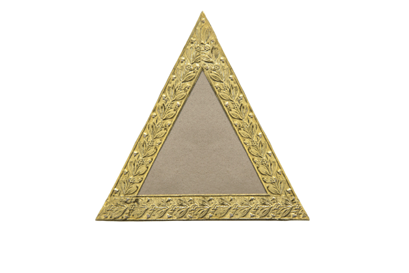 Triangle from the Holburne sisters' album card with embossed foil border after 1817