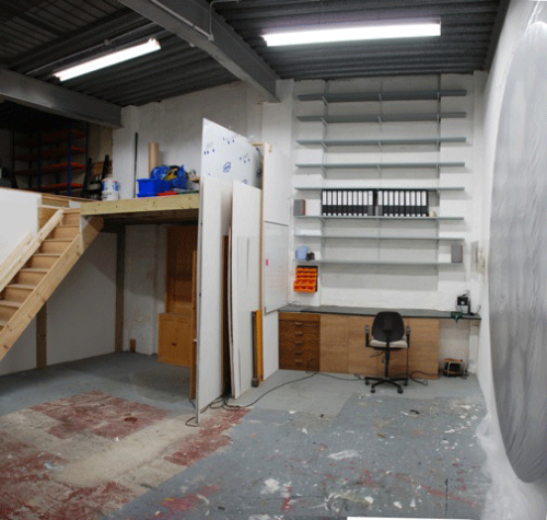Approx 380 Sq Ft Art Studio with Small Storage Mezzanine for £500 per month all inclusive