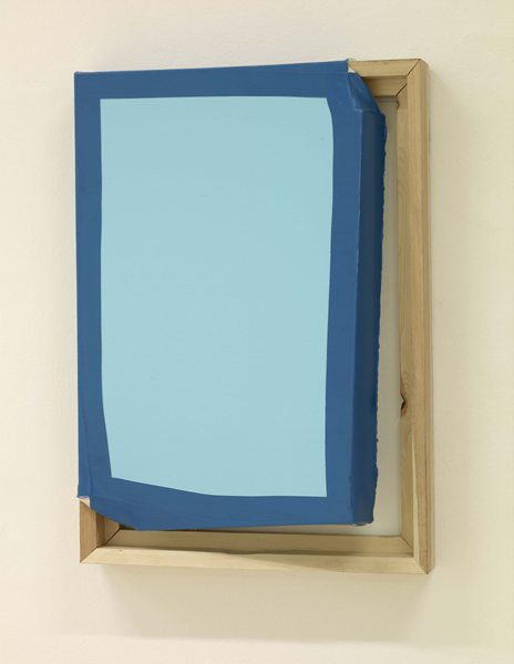 Ángela de la Cruz, Tight (Light blue / Turquoise), 2014