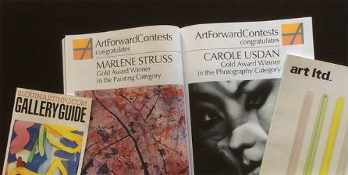 Gold Award Winners receive full-page ads in major art magazines