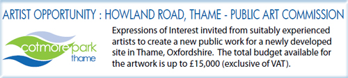 Howland Rd, Thame - Public Art Commission