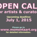 Momenta Art Open Calls for Artists & Curators