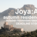 Joya: AiR artist in residence program