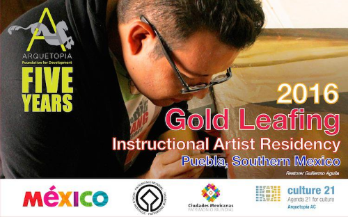 GOLD LEAFING AND ANTIQUE ART TECHNIQUES INSTRUCTIONAL ARTIST RESIDENCY 2016