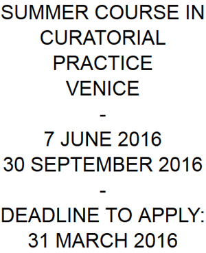 SUMMER SCHOOL IN CURATORIAL STUDIES VENICE