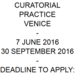 OPEN CALL SUMMER SCHOOL IN CURATORIAL STUDIES VENICE