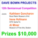 $10,000 in Cash Prizes - Dave Bown Projects - 12th Semiannual Competition