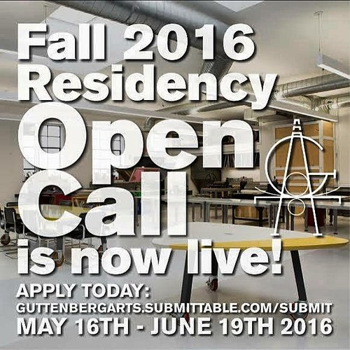 Guttenberg Arts Fall 2016 Residency Open Call