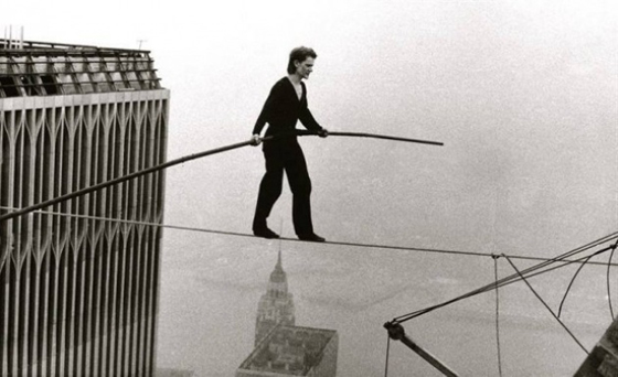 Man on wire, Documentary of Philippe Petit, 1974