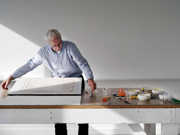 Jürgen Partenheimer, studio of the artist, Vancouver, 2014. Courtesy of the artist. Photograph David Simmonds