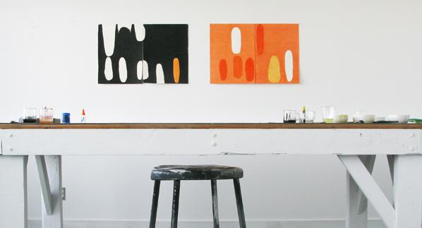 Jürgen Partenheimer , Studio of the artist, Vancouver. The Raven Diaries #13 and#15, 2014