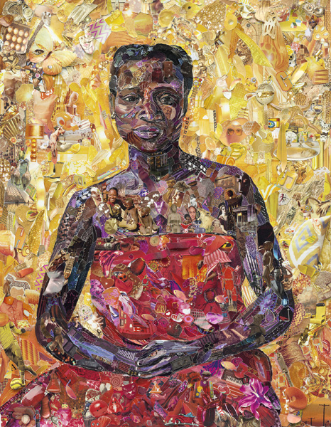 Vik Muniz, Seated Black Woman, after Félix Vallotton, 2013