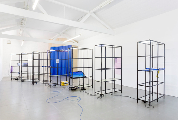 Yuri Pattison, Free Traveller, Installation view, Courtesy of the artist and Cell Project Space, London