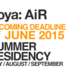 Joya - AiR SUMMER RESIDENCIES