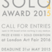 SOLO Award 2015 - 3 weeks until DEADLINE 31 MAY