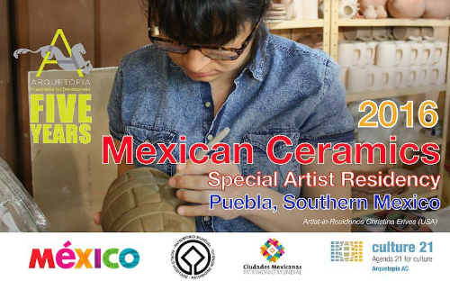 MEXICAN CERAMICS SPECIAL ARTIST RESIDENCY 2016