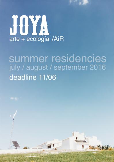Joya: arte + ecología / Joya: AiR