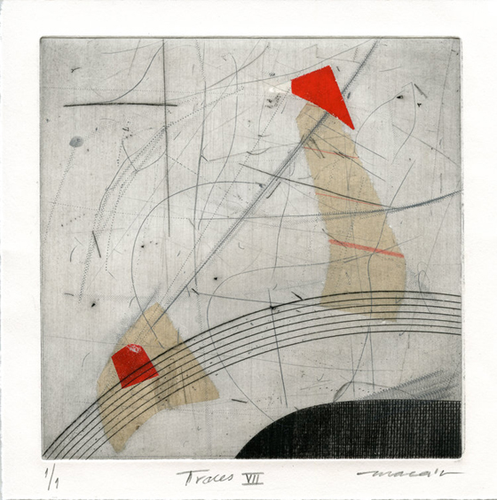 Marieta Canchari 'Traces vi'i etching