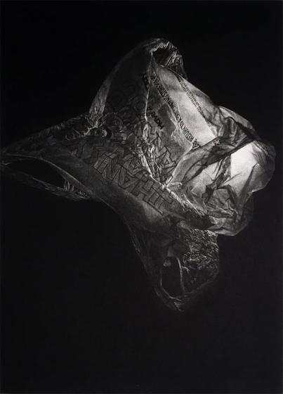 Artwork by Jeremy Plunkett, Thank You, mezzotint, 2016