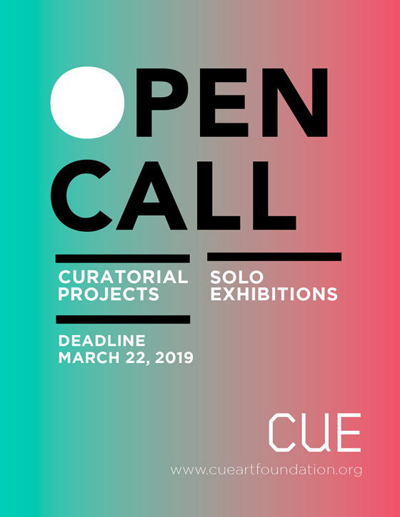 Cue Solo Exhibition And Curatorial Project Open Call Re