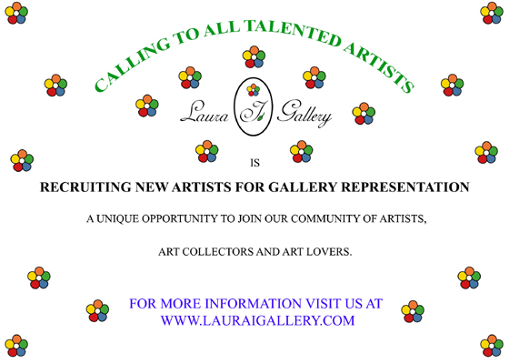Unique Opportunity for artists who are looking for gallery representation