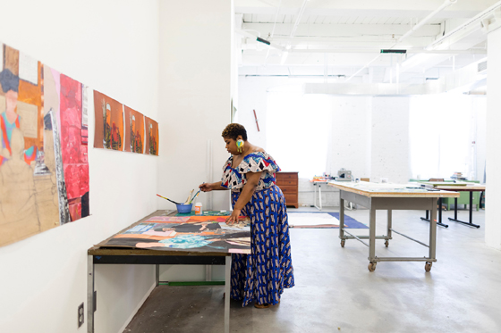 Glyneisha Johnson, Bemis Center for Contemporary Arts, Photo by Colin Conces