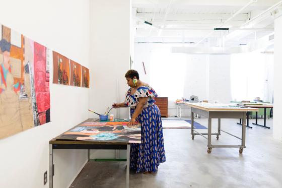 Glyneisha Johnson, Bemis Center for Contemporary Arts, Photo by Colin Conces
