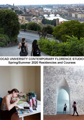 OCAD UNIVERSITY CONTEMPORARY FLORENCE STUDIO Spring/Summer 2020 Residencies and Courses
