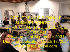 SUMMER SCHOOL IN CURATORIAL STUDIES VENICE OPEN CALL