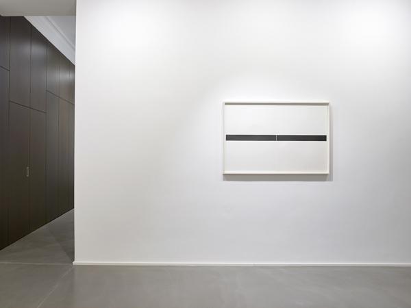 Frank Gerritz, Two Center Lines, (Horizontal),                    2017