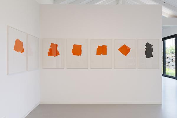 Imi Knoebel: Mennige - Serie I (Blätter 49-55), 1992