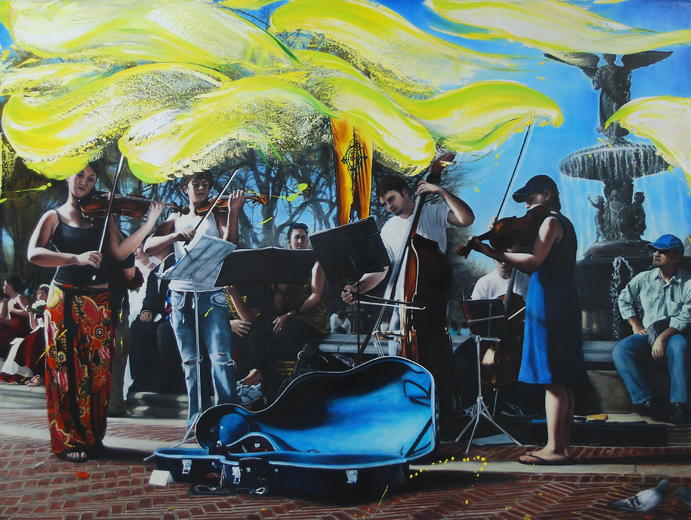 Maxwell Stevens, Autumn Leaves, Rehearsal at Bethesda Fountain, 2019-2021